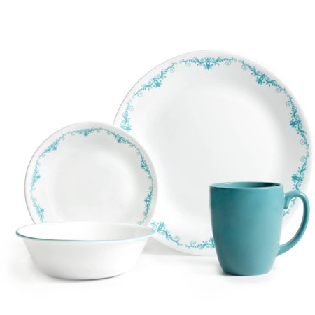 Corelle Livingware 16 Piece Dinnerware Set Garden Lace