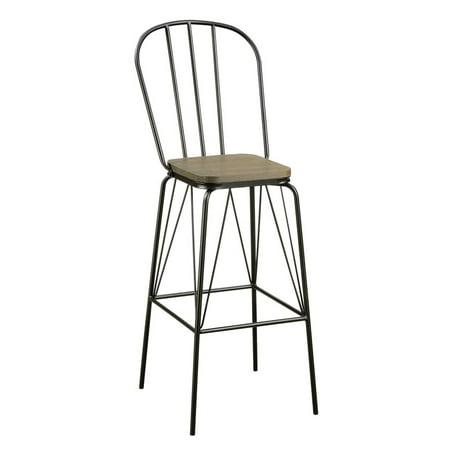 Furniture of America Chelsea Windsor Bar Stool (Set of 2) in Black ()