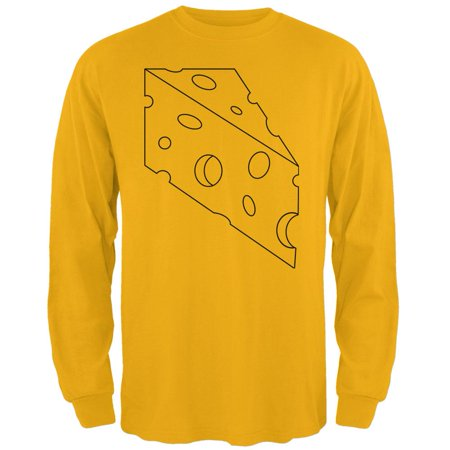 Halloween Swiss Cheese Food Costume Mens Long Sleeve T - Halloween Chinese
