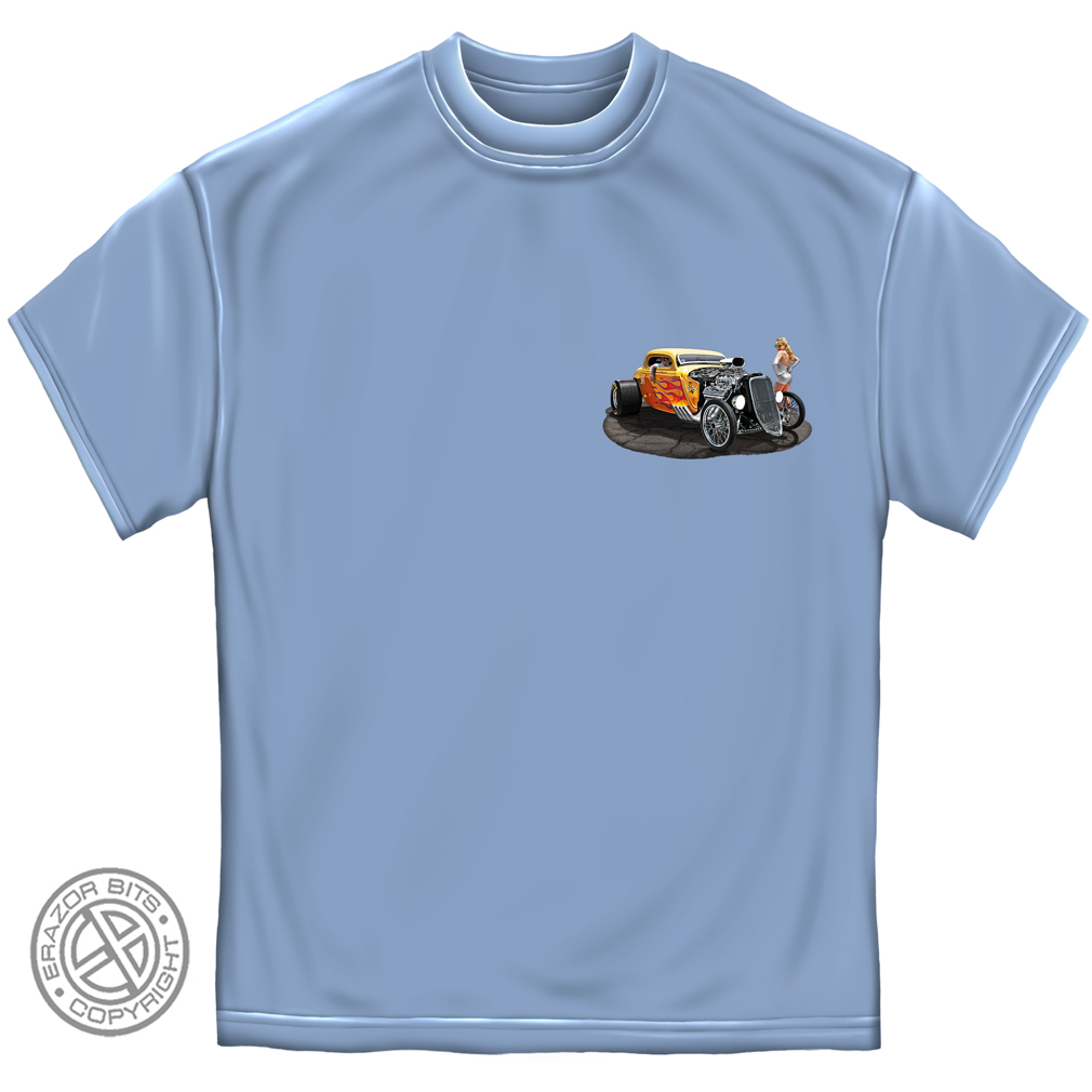 Good To Be Blown Hot Rod Car T-Shirt by , Light Blue