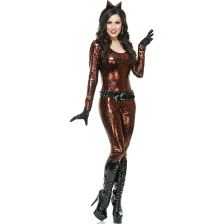 Women's Bronze Leopard Cutie Jumper With Belt and Gloves Costume](Brobee Costume)