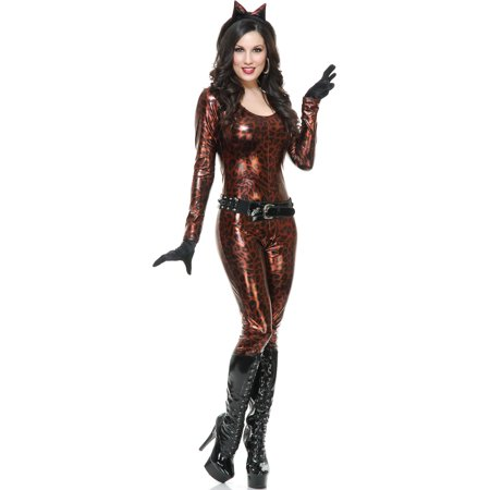 Women's Bronze Leopard Cutie Jumper With Belt and Gloves Costume](Costume Belts)