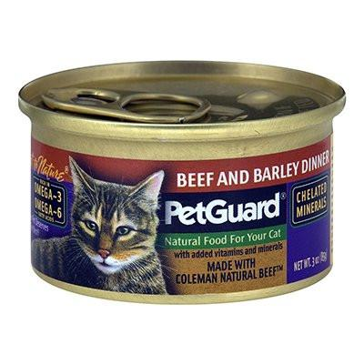 Pet Guard Cat Beef And Barley Dinner 3 Ounce Canned Wet Food Pack of 24