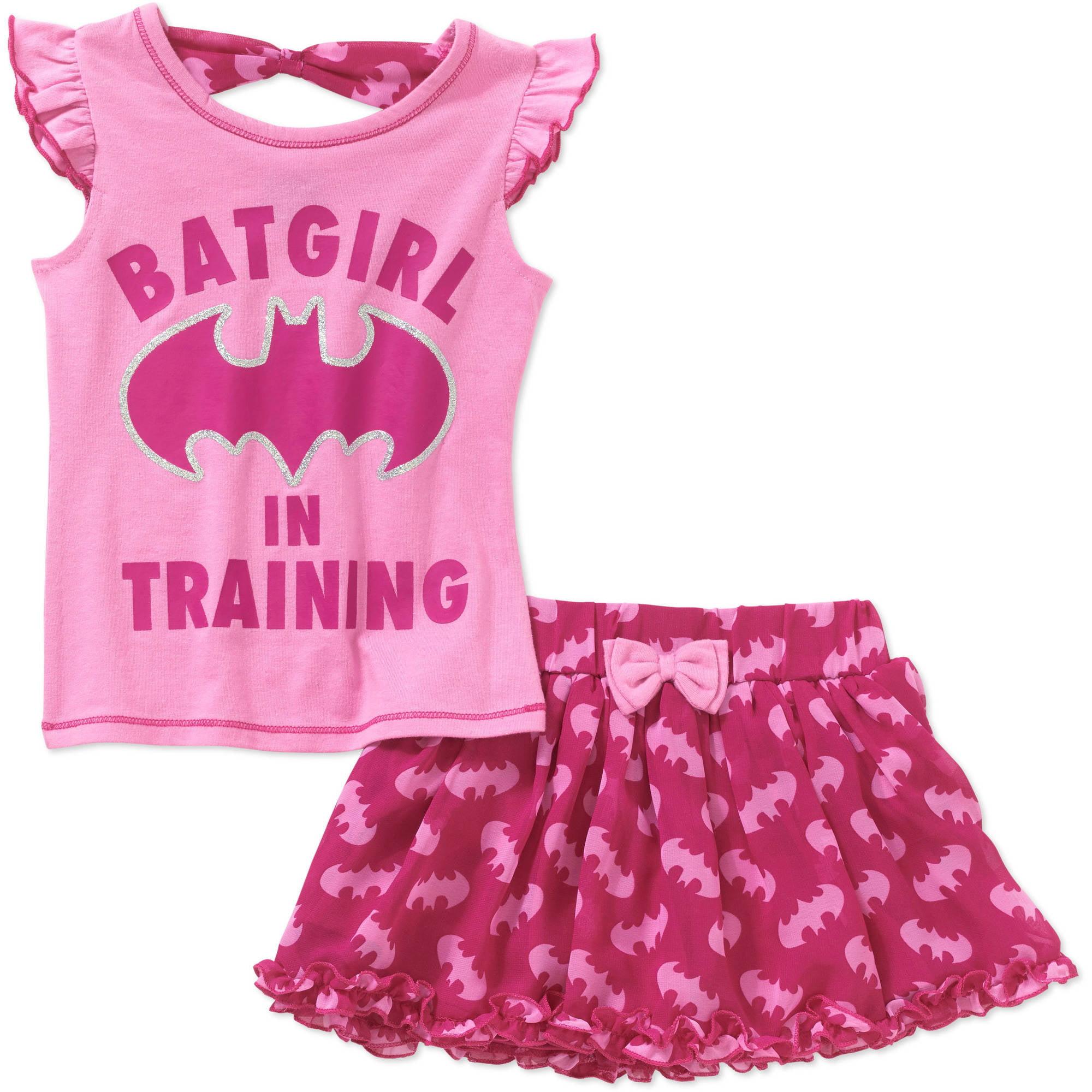 Batgirl Toddler Girls' Tee and Scooter Set