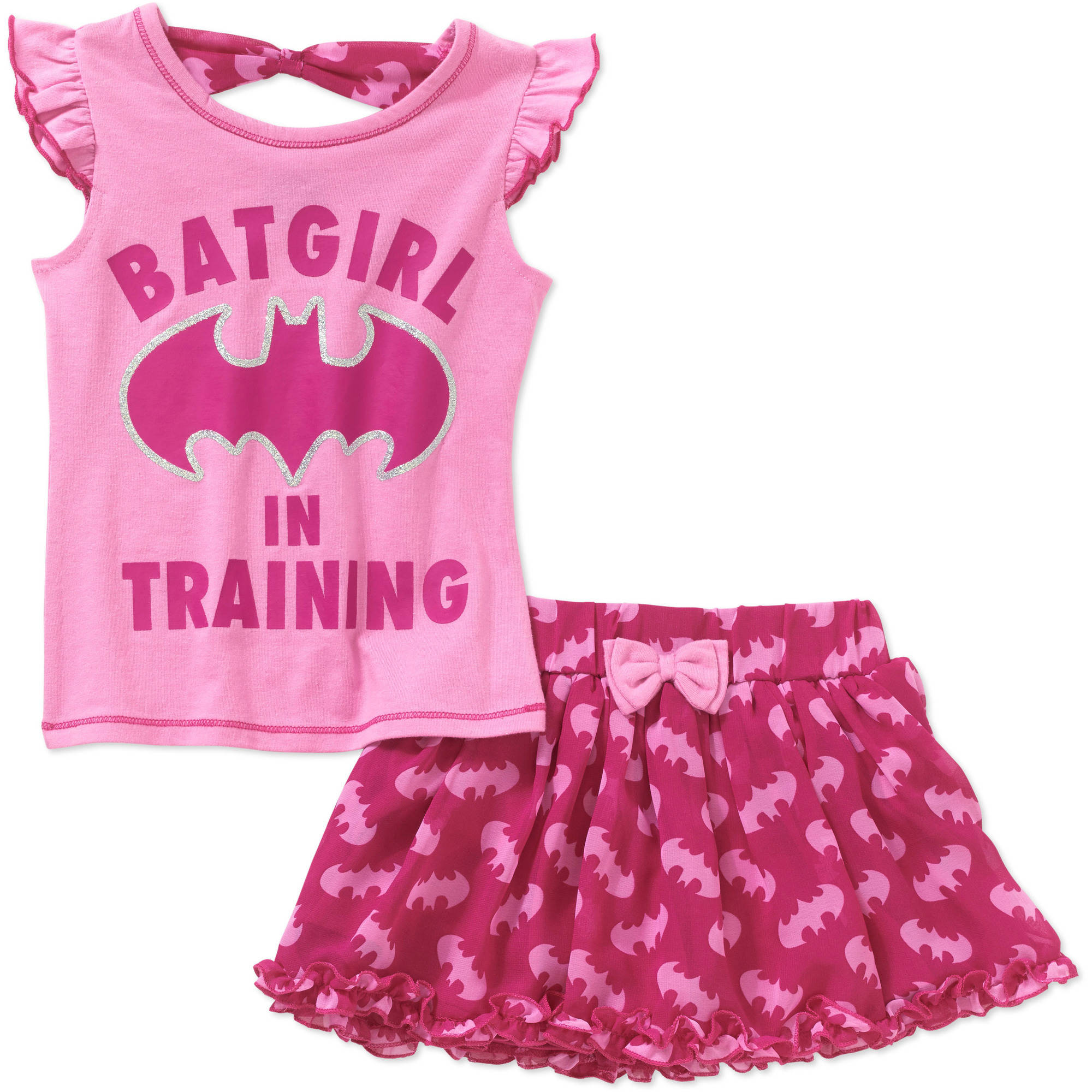 Batgirl Toddler Girls' Tee and Scooter Set