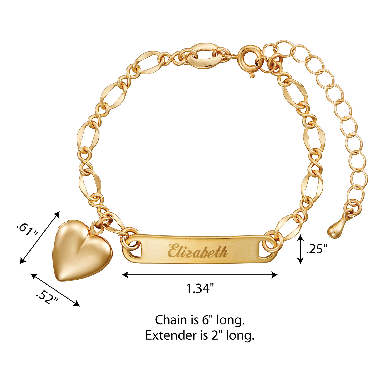Gold Tone S Heart Charm