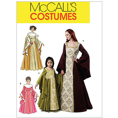McCall's Misses', Children's and Girls' Costumes, Miss (S, M, L, XL)