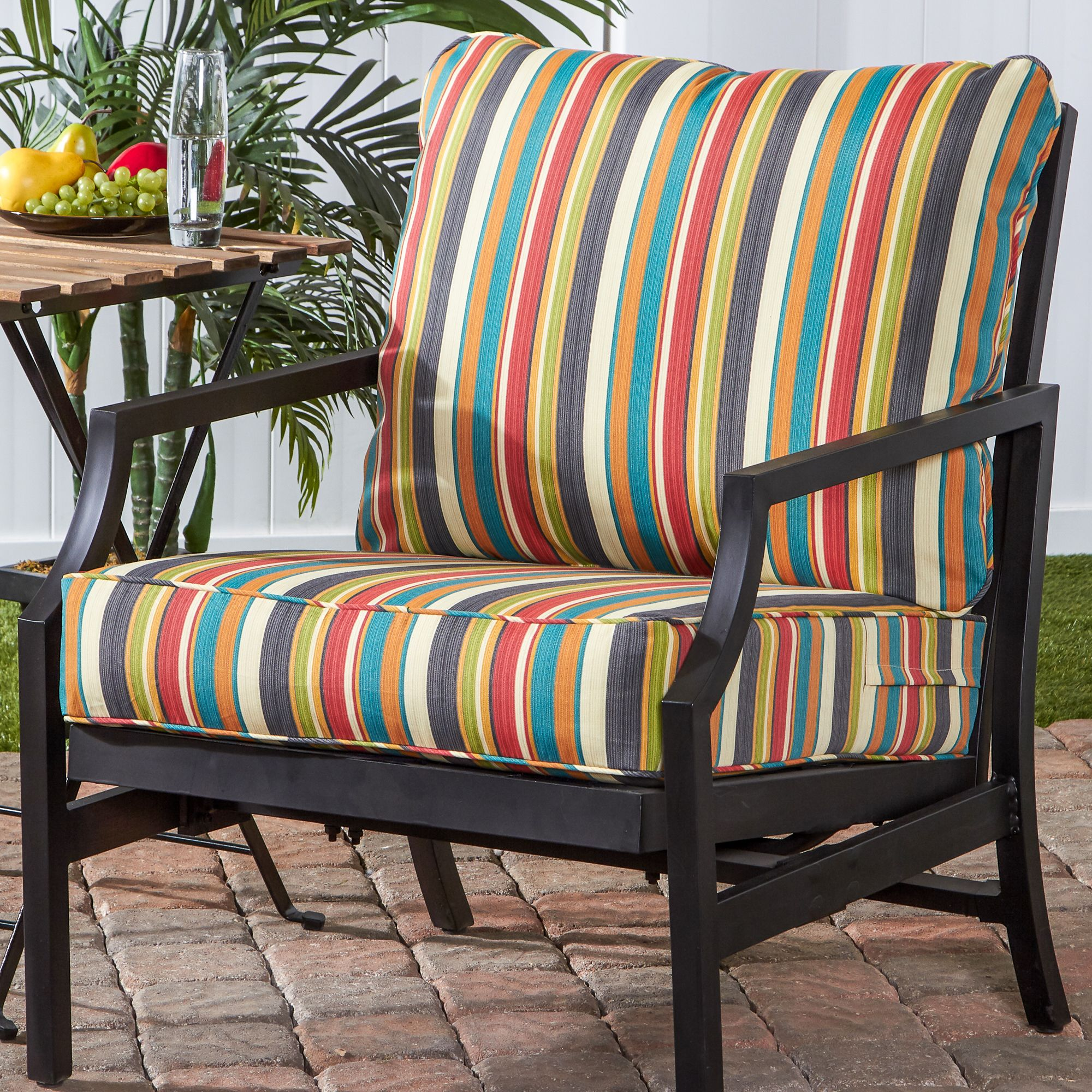 Greendale Home Fashions Sunset Outdoor Deep Seat Cushion Set by Greendale Home Fashions