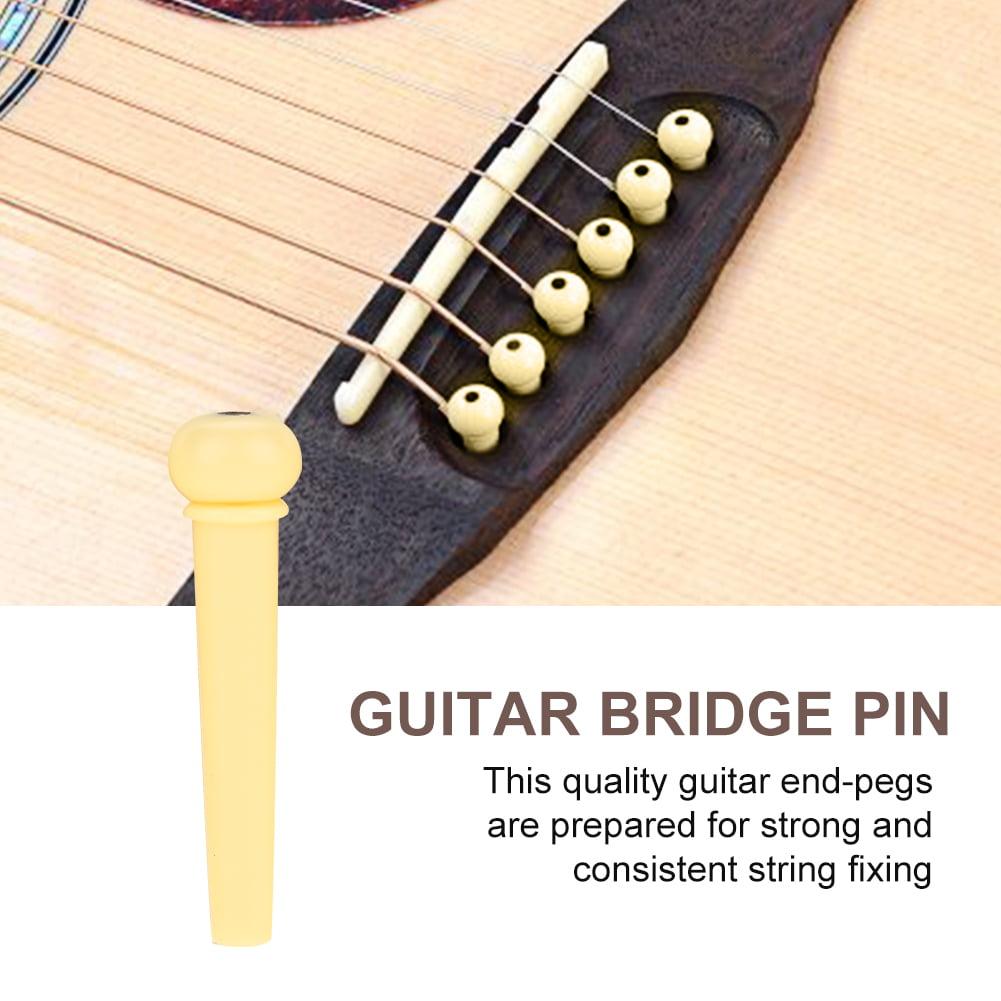 60pcs/Set 3 Colors Guitar String Nail Folk Guitar Parts String Bridge Plastic Nails Pins Repair Accessories