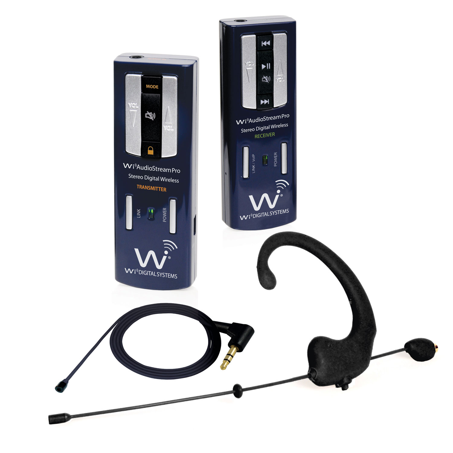 Wi Digital Wi AudioStream Pro EL Dual Input Headset and Lavalier System