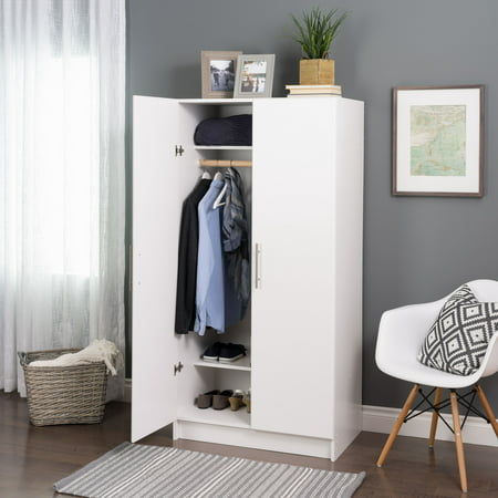 "Prepac Elite 32"" Wardrobe Cabinet, White"