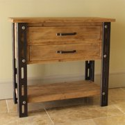 International Caravan  Aledo Antique 2-Drawer Indoor Side Table