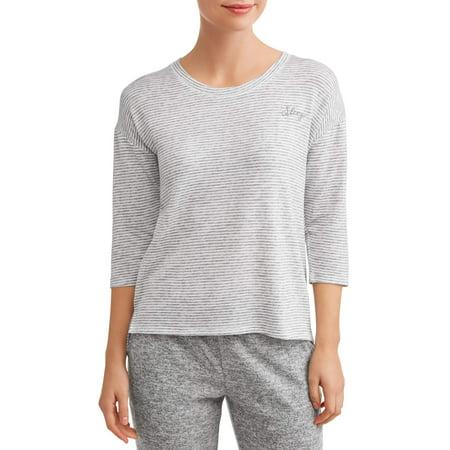 JV Apparel Women's and Women's Plus 3/4 Sleeve Sleep Top