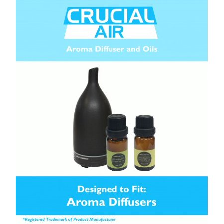 Aromatherapy Diffuser: Advanced Essential Oil Nebulizer, Peppermint & Lemongrass Oil (10ML)