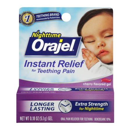 Baby Orajel Oral Pain Reliever Gel Nighttime 0.18 oz.(pack of 4)