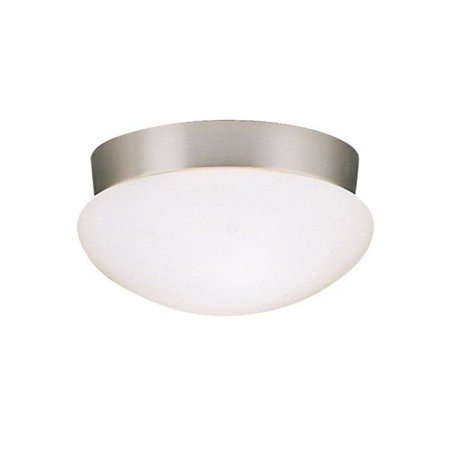 Kichler Lighting Two Light Flush Mount, Brushed Nickel Finish with White Glass