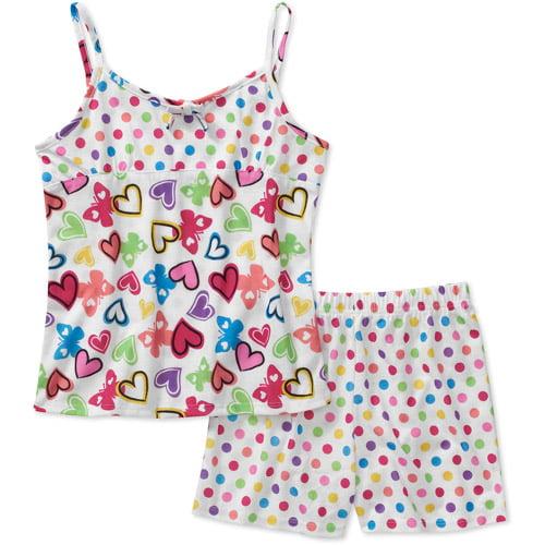 Girls Graphic 2 Piece Pajama Set