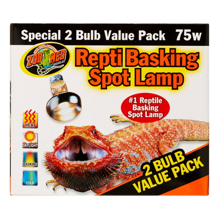 Zoo Med Repti Basking Spot Lamp 2 Bulb Value Pack, 100 -