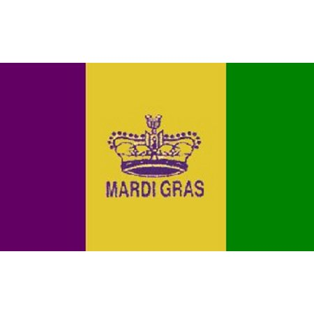 3x5 Mardi Gras Flag Holiday Decoration Fat Tuesday Banner Party Pennant Outdoor