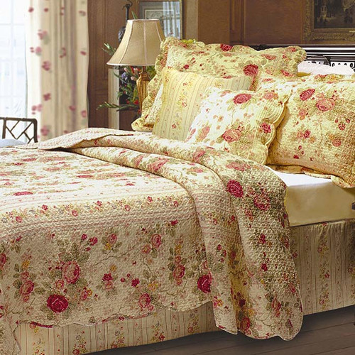Greenland Home Fashions Antique Rose Bonus Quilt Set