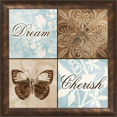 Floral Dream Typography Framed Art