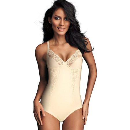 f3b2f97ca4ef7 Maidenform - Flexees Women s Shapewear Body Briefer With Lace Buttercream 40Dd  40DD Ivory - Walmart.com