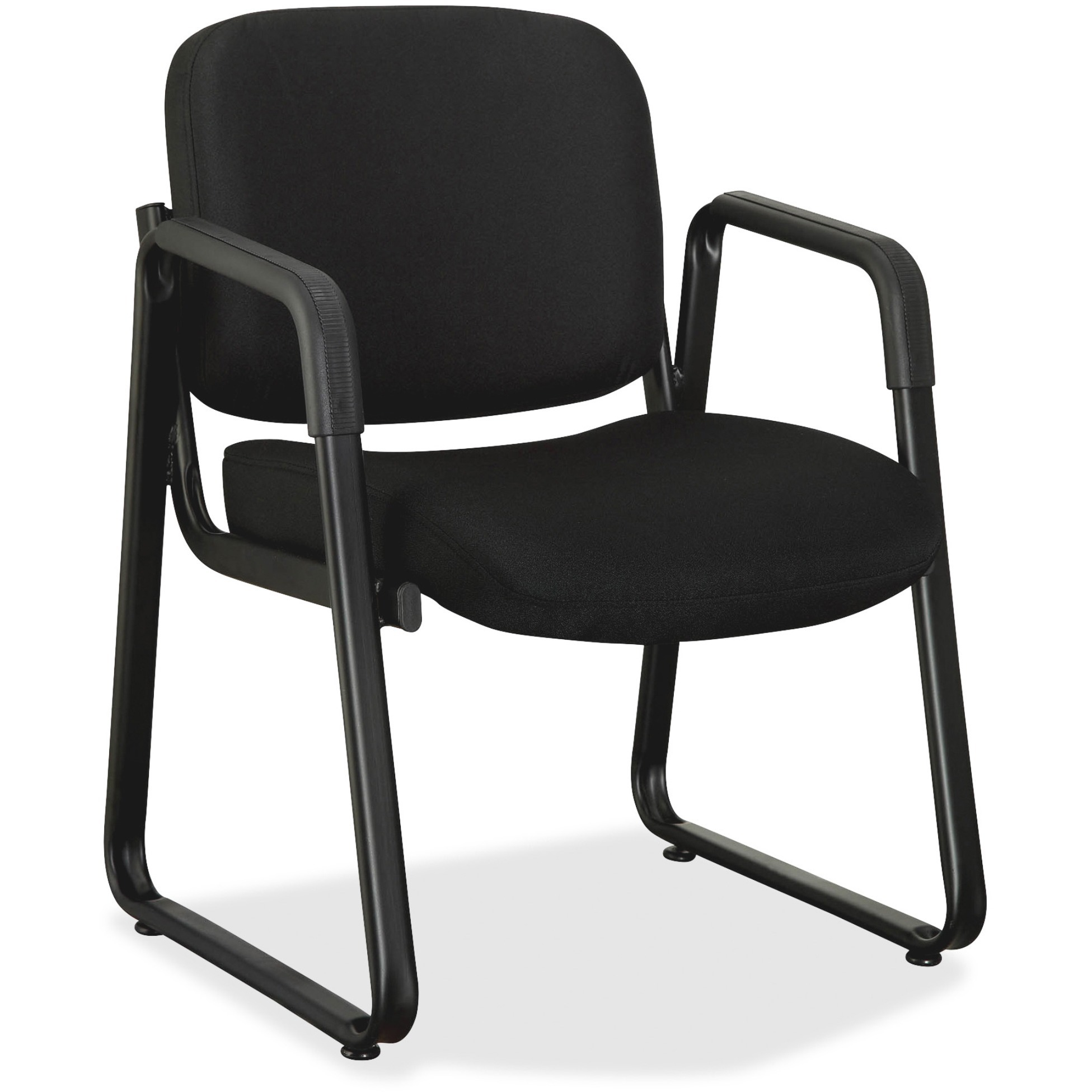 Lorell, LLR84576, Black Fabric Guest Chair, 1 Each, Black
