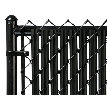 Image of Black 4ft Ridged Slat for Chain Link Fence