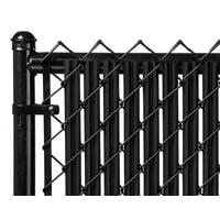 Black 4ft Ridged Slat for Chain Link Fence