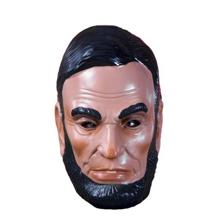 Child Plastic Abe Lincoln Abraham Political President Mask Costume Accessory