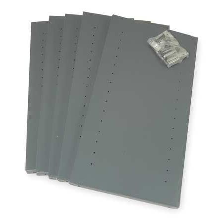 Shelves, 20 ga., Gray, 36 In. W, PK5 EDSAL ()