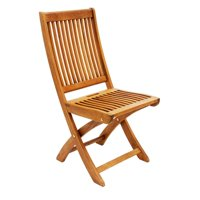 Achla Eucalyptus Wood Folding Patio Dining Chair
