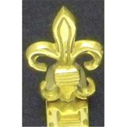 Mayer Mill Brass - FDH-S - Fleur De Lis Stocking Hook - Small