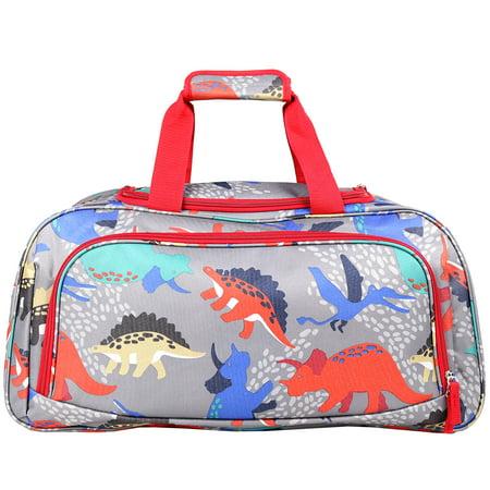 Crckt Kids Dinosaur Duffel - Green Sport Bag