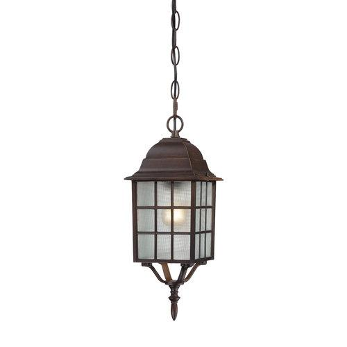 "Adams - 1 Light - 16"" Outdoor Hanging W/ Frosted Glass"