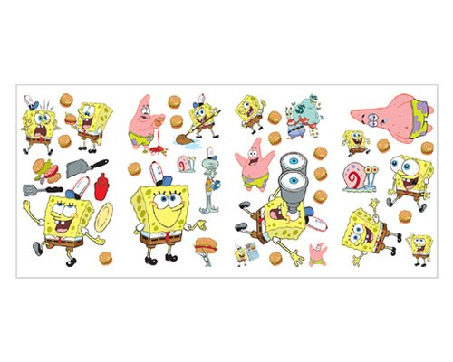 Nickelodeon Sponge Bob Square Pants Wall Stickers by Borders Unlimited