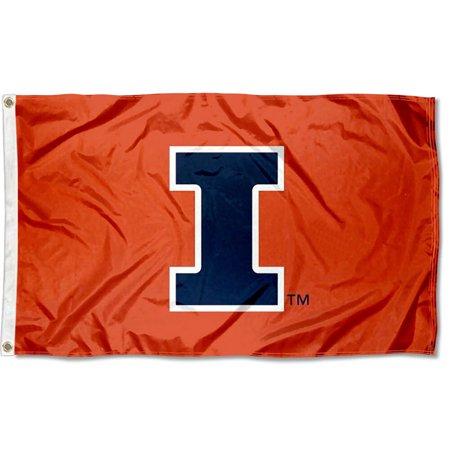 Illinois Fighting Illini New Logo 3' x 5' Pole Flag Illinois Fighting Illini Pennant