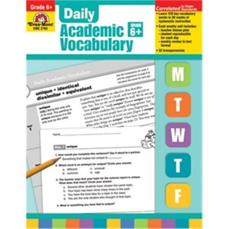 Evan-Moor Educational Publishers 2762 Daily Academic Vocabulary, Grade 6
