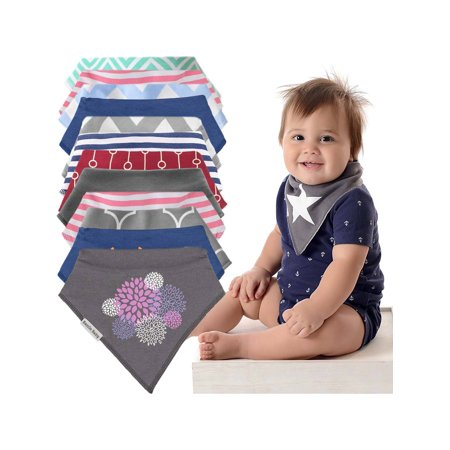 Bazzle Baby (12 Pack) Baby Bandana Drool Bibs Unisex Gift Set For Boys & Girls Infants -