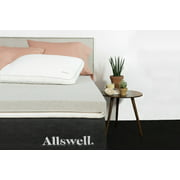 """Allswell 2"""" Energex Memory Foam Mattress Topper Infused with Graphite - Queen"""