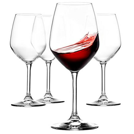 Italian Red Wine Glasses - 18 Ounce - Lead Free - Wine Glass Set of 4, (Best Italian Wine Brands)