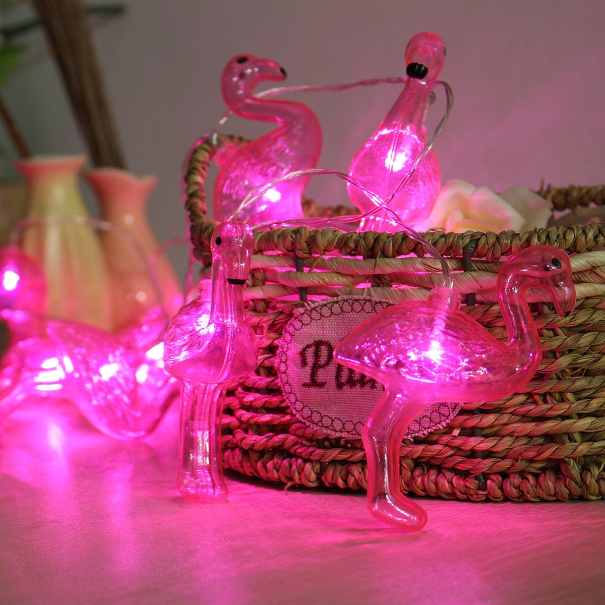 10LED String Light 1.65m Porch Patio Christmas Wedding Party Home Room Decor Gift Flamingo Bulb