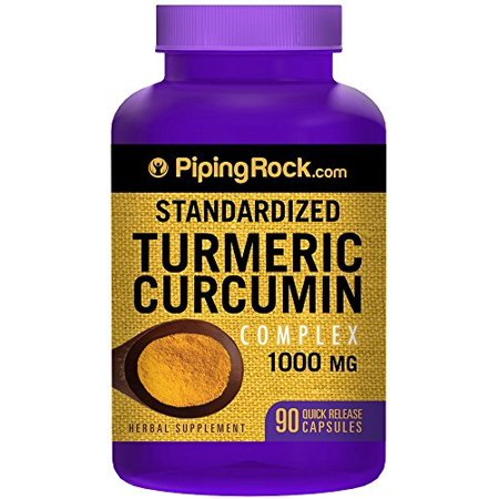 - Piping Rock Standardized Turmeric Curcumin Complex 1000 mg with Black Pepper 90 Quick Release Capsules Herbal Supplement