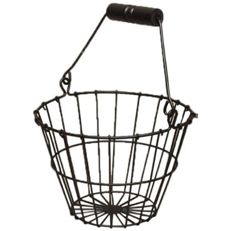 CWI Gifts 6-Inch Wire Egg Basket, Small, Black ()