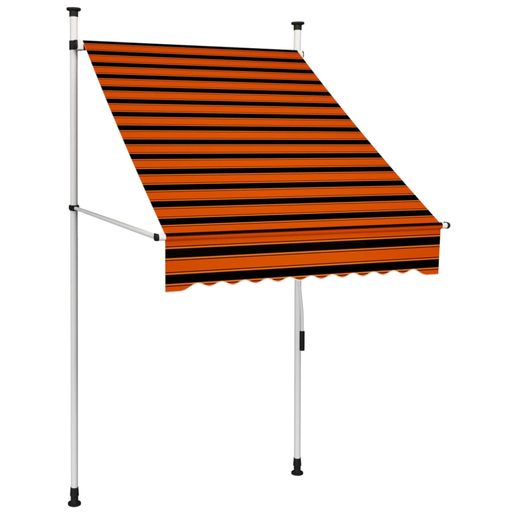 vidaXL Manual Retractable Awning Stripes Outdoor Awnings Folding ...