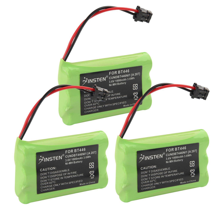 Insten (3 Pack) Extra Ni-Mh Cordless Phone Home Battery For Uniden BT-446 2.4GHz phone TRU446 TRU446-2 TRU4465 TRU4485