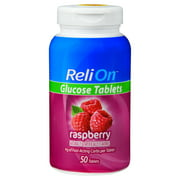 ReliOn Raspberry Glucose Tablets, 50 Ct