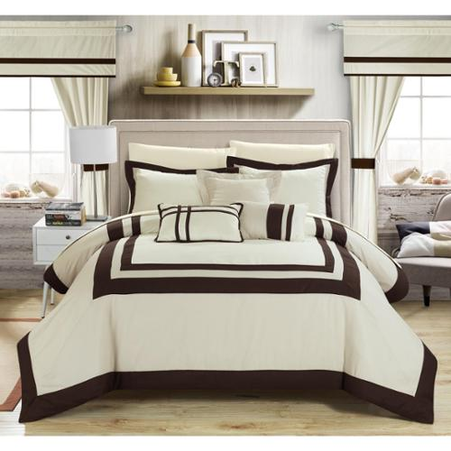 Chic Home 20-piece Christofle-pieced Color Blocked Comforter Set King
