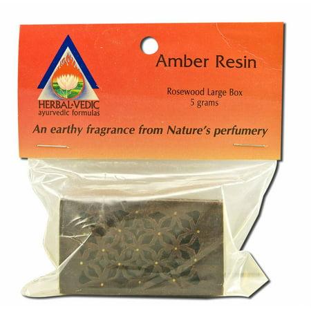 Herbal Vedic - Amber Resin, Large Rosewood 5 gm (Herbal Aromatherapy)