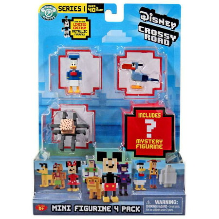 Crossy Road Disney Donald, Zazu, Babyhead & Mystery Figure Mini Figure - Crossy Road Characters Halloween